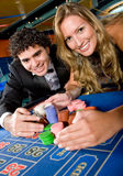 Casino couple Royalty Free Stock Image