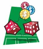Casino Craps Stock Photography