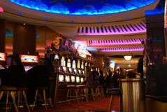 Casino on cruise ship Royalty Free Stock Images
