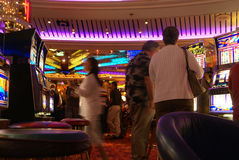 Casino on cruise ship Stock Images