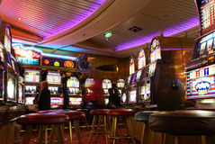Casino on cruise ship Stock Photography