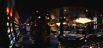 Casino on a cruise ship panorama Stock Image