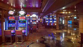 Casino on cruise ship royalty free stock image