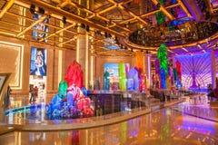 Casino Crystal Palace da galáxia de Macau Imagem de Stock Royalty Free