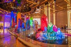 Casino Crystal Palace da galáxia de Macau Foto de Stock