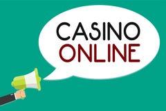 Casino d'écriture des textes d'écriture en ligne Jeu Bet Lotto High Stakes Man royal de jeu de poker d'ordinateur de significatio Illustration Stock
