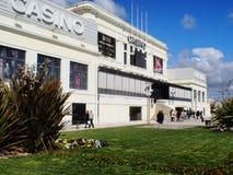 Casino da Póvoa gardens and entrance. Stock Photos