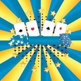 Casino de la bandera imágenes de archivo libres de regalías