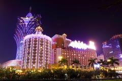 Casino de Lisbonne dans Macao Images stock