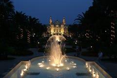 Casino de Mónaco de Night Imagenes de archivo
