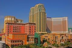 Casino de Macao avec le vénitien et la plaza Image stock