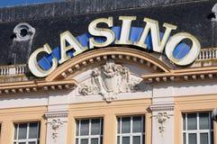 Casino de Mer de sur de Trouville en Normandie Images libres de droits