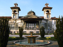 Casino de Montbenon, Lausanne. Build in 1908 in a beautiful garden on a terrace overlooking the lake Geneva, the Casino of Montbenon is not actually a casino Royalty Free Stock Image