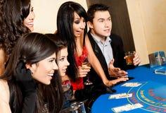 Casino de plot noir des jeunes Photographie stock