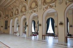 Casino de Sinaia, interior foto de archivo libre de regalías