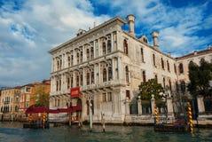 Casino de Venise sur le canal grand Image libre de droits
