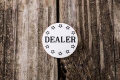 Casino Dealer Chip Stock Photography