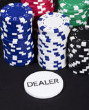 Casino dealer chips stack Stock Images