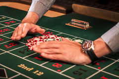 Casino dealer Royalty Free Stock Photo