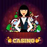 Casino Dealer Concept Stock Image