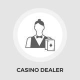 Casino Dealer Flat Icon Royalty Free Stock Photos