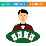 Casino dealer icon Stock Image