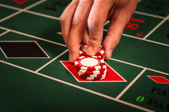 Casino dealer Royalty Free Stock Photo