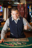 Casino dealer Stock Images