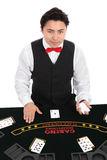 Casino dealer in vest and tie Royalty Free Stock Photography