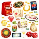 Casino Decorative Icons Set Stock Image