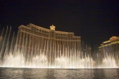 Casino del hotel de Las Vegas Bellagio, ofrecido con su famoso imagen de archivo libre de regalías