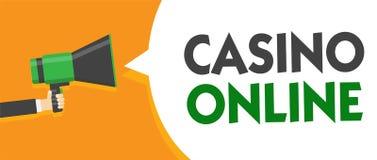Casino des textes d'écriture en ligne Jeu Bet Lotto High Stakes Man royal de jeu de poker d'ordinateur de signification de concep Illustration de Vecteur