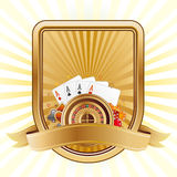 Casino design element Stock Images