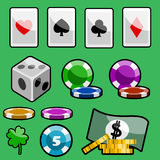 Casino design elements Stock Images