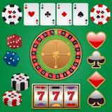 Casino design elements Royalty Free Stock Image