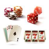 Casino design elements Royalty Free Stock Photos
