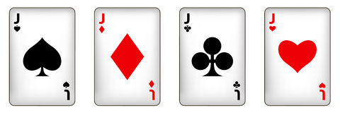 Casino design elements with gambling poker play. The set of    illustrations Stock Photography