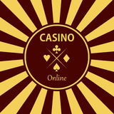 Casino  design elements  icons. Casino games.Ace playing c. Ards with chips on background.Set of gambling chip Royalty Free Stock Image