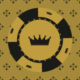 Casino  design elements  icons. Casino games.Ace playing c Stock Photo