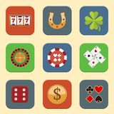 Casino Design Icons Stock Photography