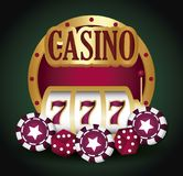 Jackpot and casino design. Casino design with jackpot over green background, colorful design. vector illustration vector illustration