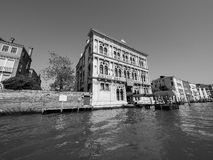 Casino Di Venezia in Venetië in zwart-wit Stock Fotografie