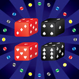 Casino dice. Layered and grouped illustration for easy editing Royalty Free Stock Photo