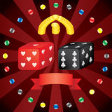 Casino dice. Layered and grouped illustration for easy editing Stock Image