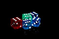 Casino dice Stock Photo