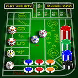 Casino dice game set. Royalty Free Stock Image