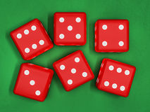 Casino dice on table 3D. Rendering Royalty Free Stock Photography