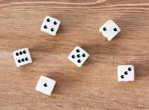 Casino dices Stock Photos
