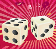 Casino dise seven points. Stock Photo