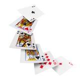 Casino do pôquer dos cartões de jogo Foto de Stock Royalty Free